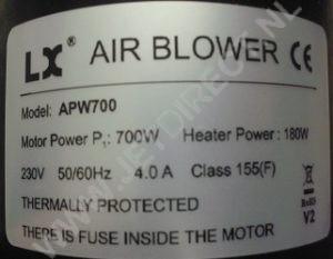 apw-700-heater
