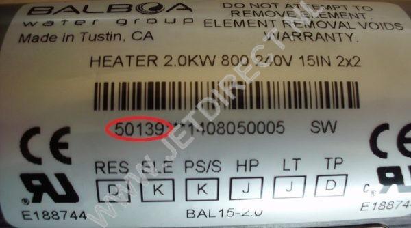 Balboa-50139-heater-verwarming-buis