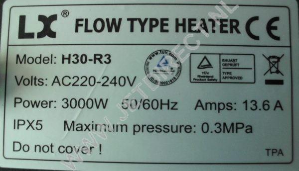 LX-flow-type-heater-H30-R3